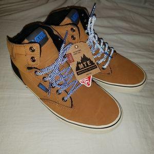Vans MTE sneakers, tan-ish and blue